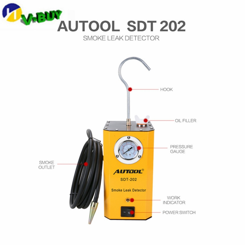 Оригинальный AUTOOL SDT-202 машины для дыма для автомобилей локатор утечки автомобильный диагностический детектор утечки SDT202 Открыватель