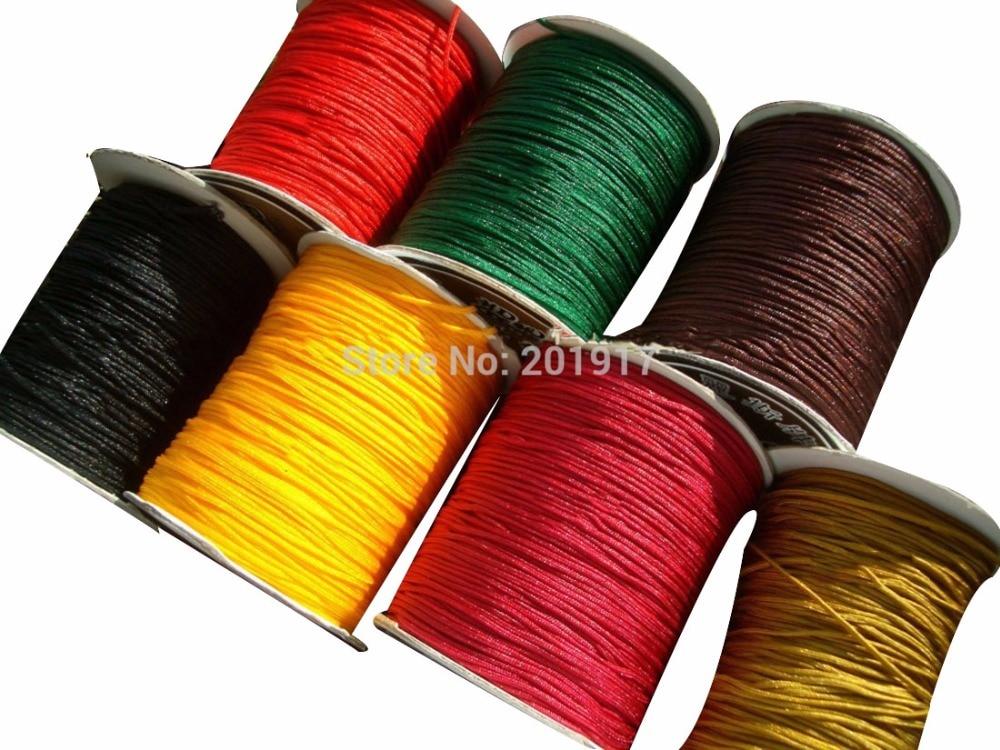 1mm Rattail Braid Nylon Cord Macrame Rope  Bracelet Beading Thread Chinese knot String Accessories 3500m=350m*10 Rolls