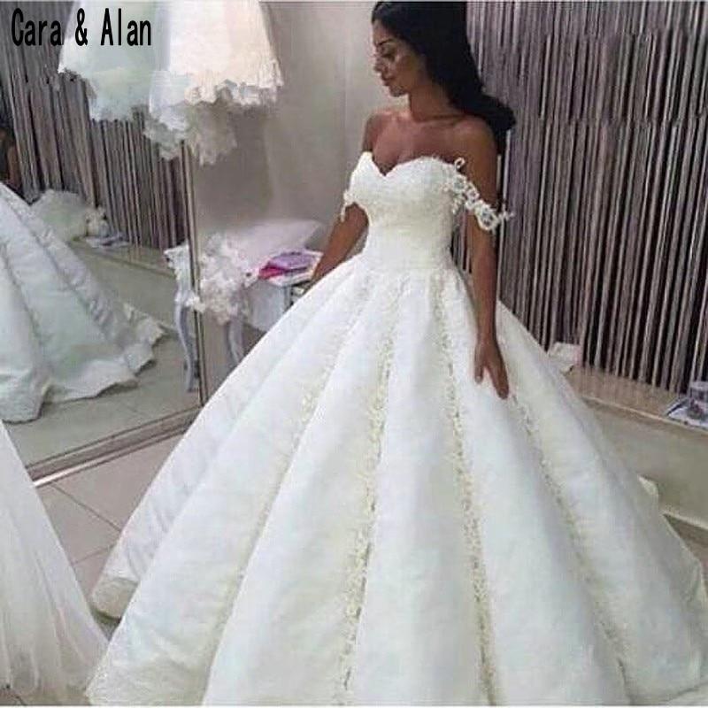 Robe De Mariage Saudi Arabia Graceful Wedding Dresses Sweetheart Appliques Ball Gown Vestido De Noiva Bridal Gowns
