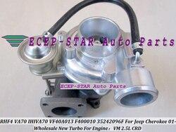 RHF4 VA70 VF40A013 F400010 35242096F IHIVA70 Turbo Turbina do Turbocompressor Para Jeep Cherokee CRD 2001-Motor VM 2.5L Refrigerados A Óleo