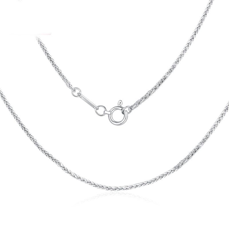 PT950 nuevo puro platino 950 cadena mujeres trigo collar enlace 16,5 pulgadas