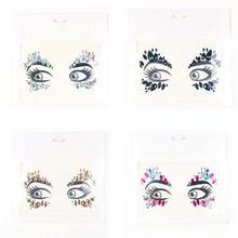 1PC Glitter Festival Party Face Makeup Gems Rhinestone Jewel Body Tattoo Stickers DIY Acrylic Resin Stickers Makeup Decoration