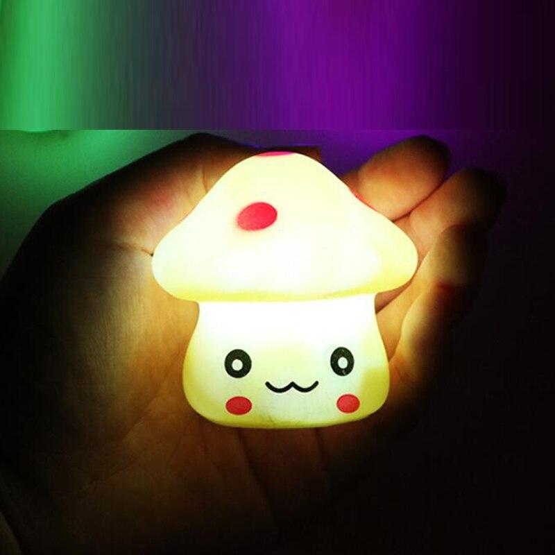 Lamp Battery Powered Mushroom LED Night Light Baby Children LED Night Lamp for Bedroom Home Decorative Light Kids Gift 80pcs/lot enlarge