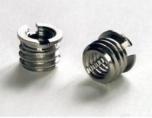 NEW 10 pieces wholesale 1/4 to 3/8 adaptor screws tripod single-leg ball head DSLR camera accessories camera accessories