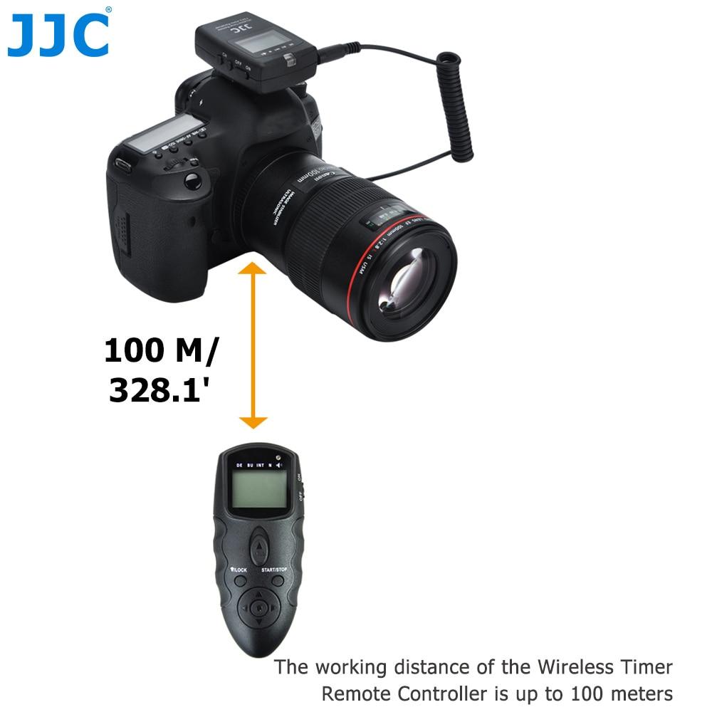 Jjc dslr 100 متر الارسال 2.4 جيجا هرتز 56 channelsrf الموقت لاسلكي للتحكم لنيكون D810/D850/d200/D7500/P7800/d5200/D5500