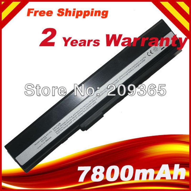 HSW 7800mAh batería para Asus K42JK K42JR K42J V K52 K52 serie K52J K52JB K52JC K52JE K52JK grasa envío