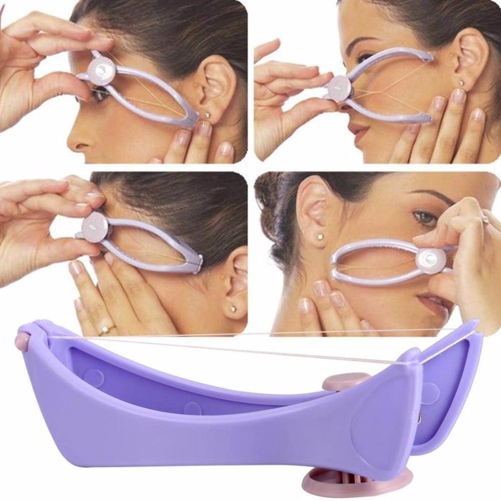 Depiladora de depilación para mujeres Mini utensilio para eliminar el vello facial primavera enhebrar la cara depiladora para mejillas ceja herramienta de maquillaje de belleza DIY