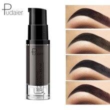 Pudaier Long-lasting Eyebrow Cream Liuqid Eyebrow Gel Makeup Tattoo Tint Eye Brows Pigment Natural Black Brown Eyebrow Enhancers
