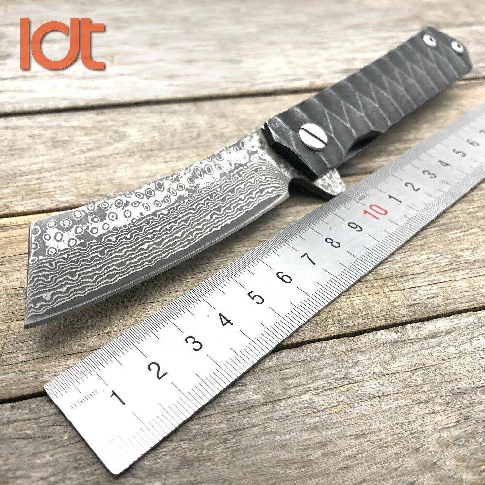 LDT Twosun складной нож для бритвы tento дамасское лезвие с стальной ручкой ножи для мясника Флиппер походный охотничий нож для выживания EDC инструменты
