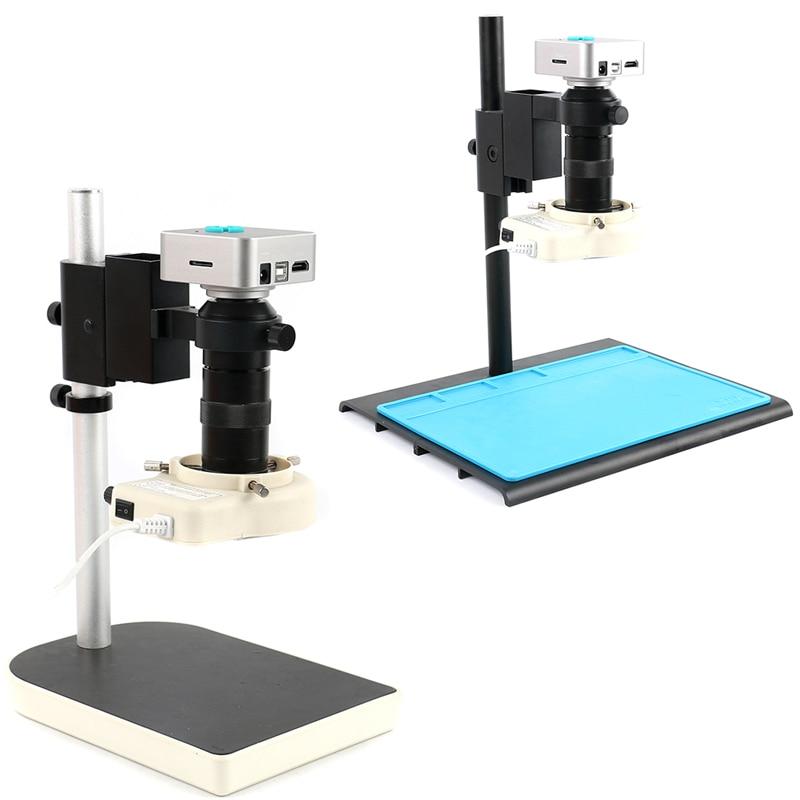 100X 36MP 1080 P Eletrônico Digital Industrial Microscópio De Vídeo TF Câmera Grava Vídeo de Captura Para Laboratório de Processamento de Produção De PCB