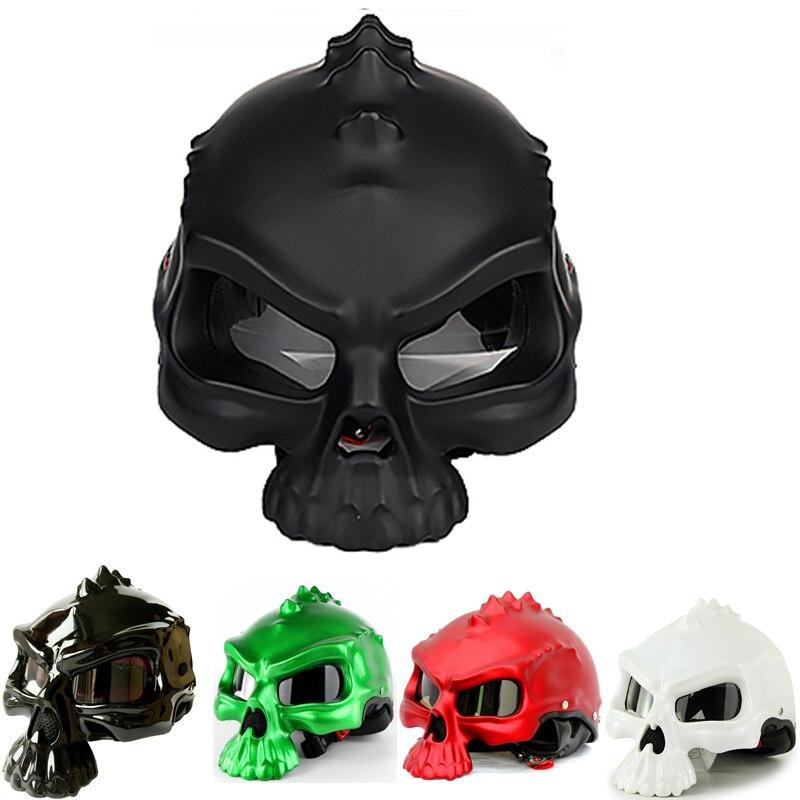 Мотоциклетный шлем, полулицевой гоночный шлем, череп в горошек