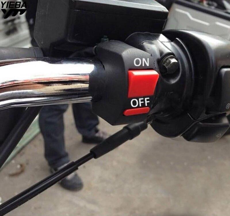 Universal Motocicleta Guiador Com ON/OFF Botão Interruptor de Luz de Nevoeiro PARA A YAMAHA WR450F WR250R/X SEROW225/250 KAWASAKI KX65 U5 U7