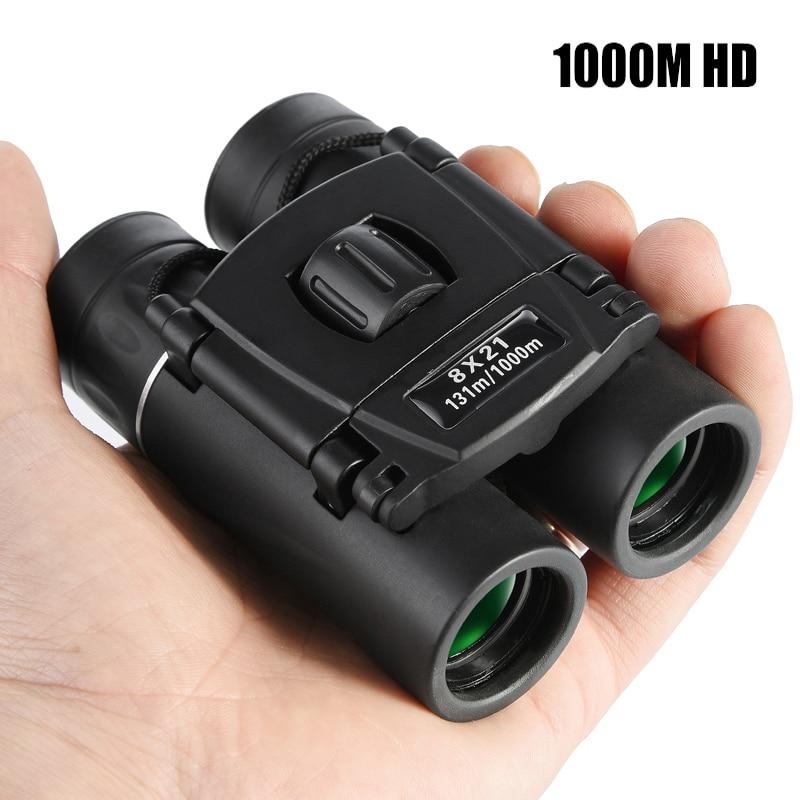 Hot 8x21 Zoom Binoculars 1000m HD Powerful Folding Mini Telescope Compact binocular Optics Glass Hunting Camping Drop-shipping
