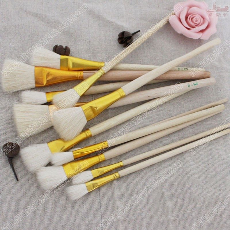 High Quality wool hair S brush process ceramic paintbrush NO pen oil paint brush artists art supplies dotting pen free shipping