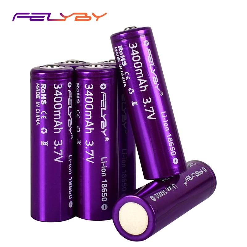 FELYBY, nuevo, Original, batería recargable 3400 de 18650 mAh, batería de litio 3,7 V 18650