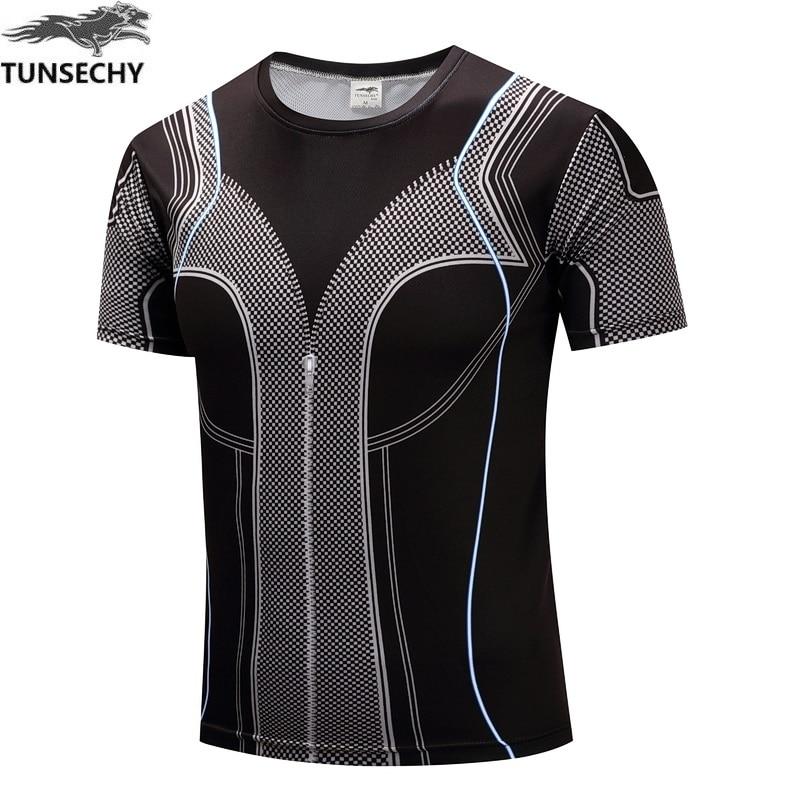 Brand sports muscle man short sleeve T-shirt compression tight T-shirt digital printing fitness mesh T-shirt