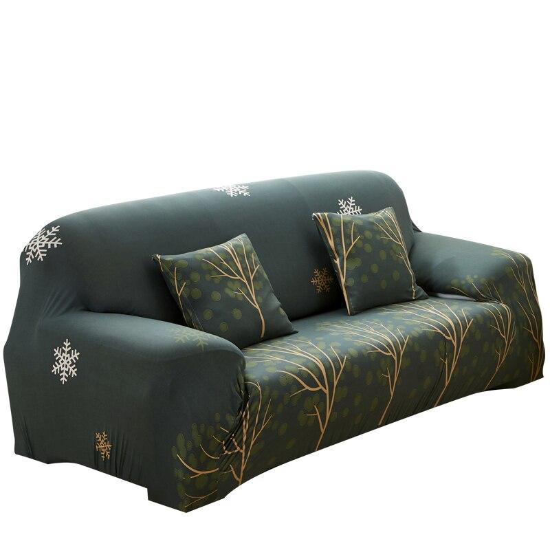 Alta elasticidade verde árvore sofá capa all-inclusive universal dustproof sala de estar loveseat capas de sofá decoração da sua casa