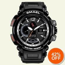 Mens Army Watches Military LED Bracelet Digital Watches Black Sport Watch Shock Resist 1702 Russian Military Wach Waterproof Man