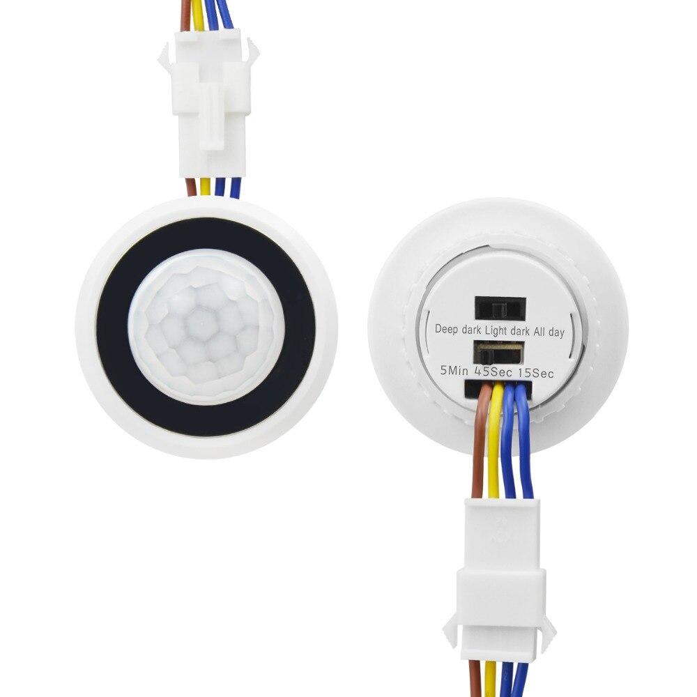 Zeit Verzögerung Einstellbar 110V-220V Hoch Empfindliche Auto AUF/OFF PIR Infrarot Motion Sensor Schalter Modus detektor Licht Schalter