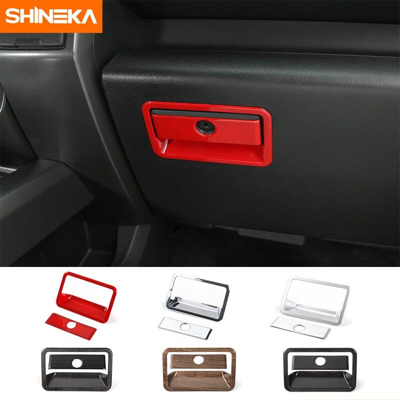 SHINEKA автомобильный Стайлинг интерьера Copilot положение коробка для хранения ручка украшение крышка отделка наклейки для Ford F150 2015 +
