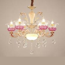 En gros moderne bougie lampe Cristal lustre led Lustres de Cristal meilleurs vendeurs art déco élégant verre abat-jour lustre