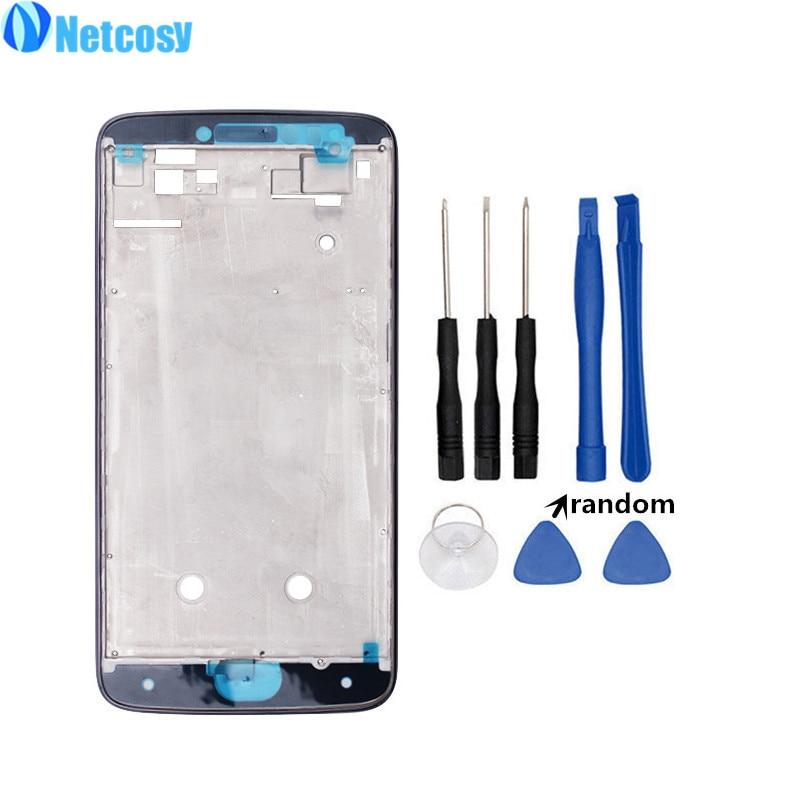 Netcosy para Moto E4 plus medio de placa marco bisel carcasa cubierta de reemplazo para Motorola Moto E4 Plus medio marco y herramientas