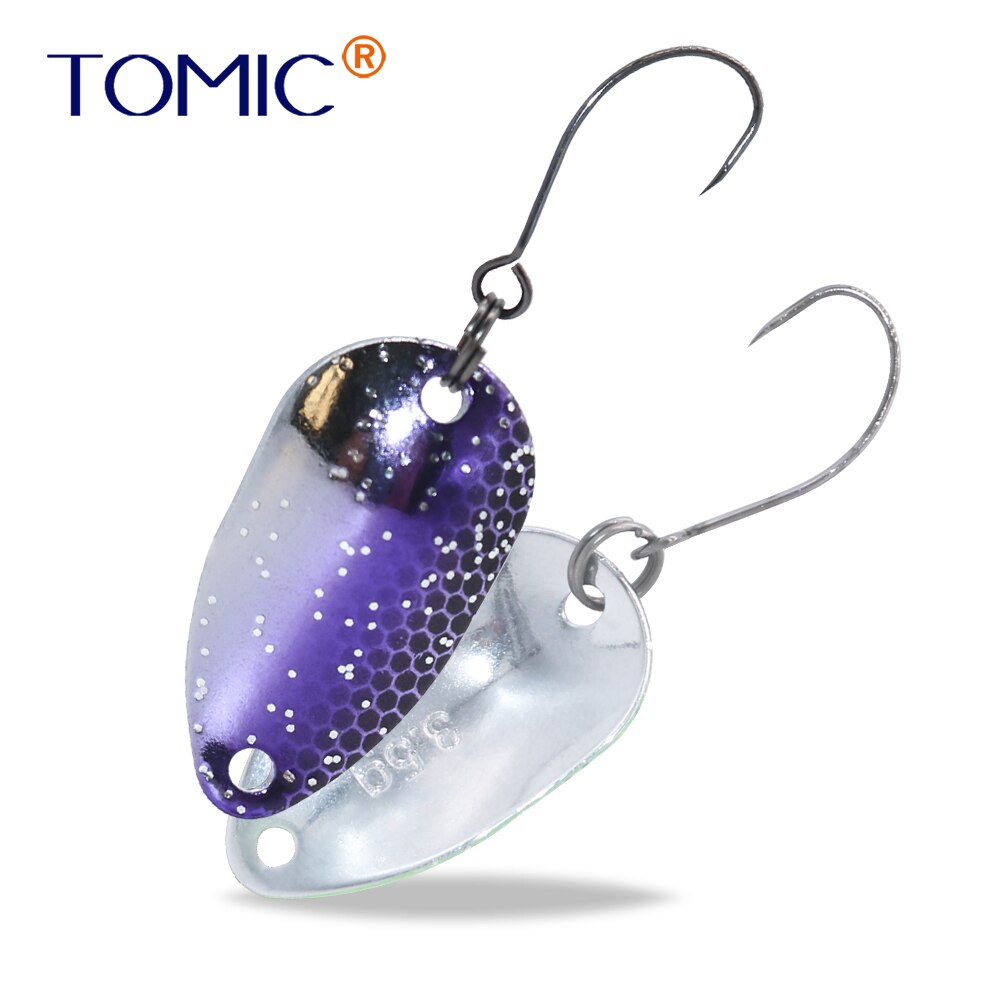 Tomic 2g 3,5g 4,5g Colorado Spinner окунь, ловля форели, рыболовные приманки, железная микро-развевающаяся ложка, оптовая продажа