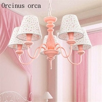 Cute simple chandelier Princess bedroom girl bedroom children's room lamp creative flower eye protection LED chandelier