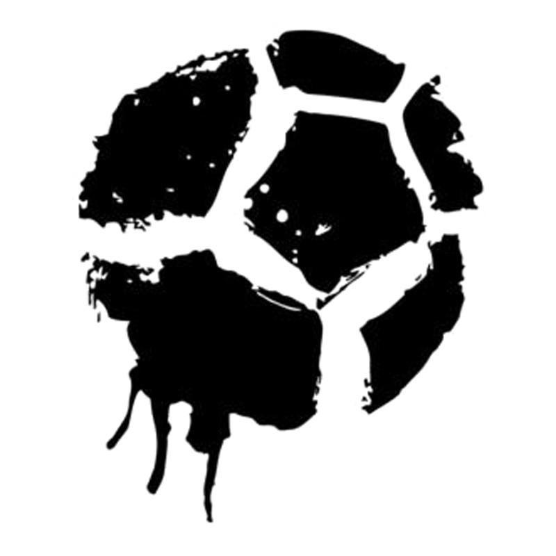 12,2 cm * 14,8 cm dibujos animados fútbol deporte vinilo coche pegatinas...