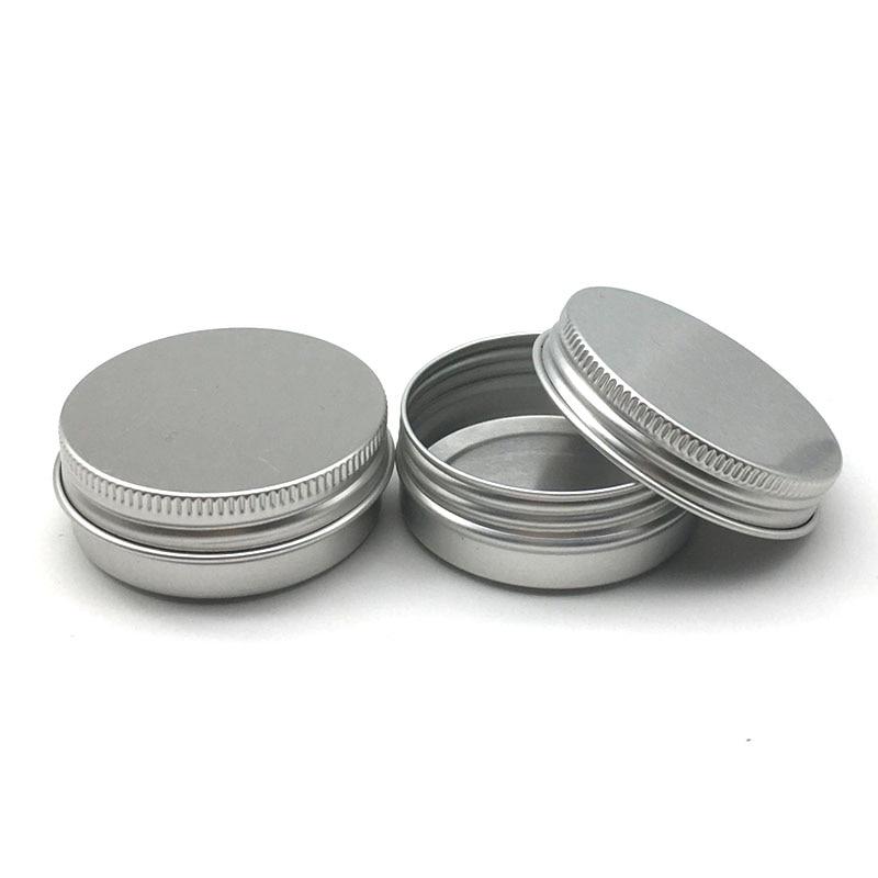 50 frascos de alumínio 30ml lata de alumínio do recipiente da lata 30ml do alumínio dos frascos 30g do creme de prata de 1oz
