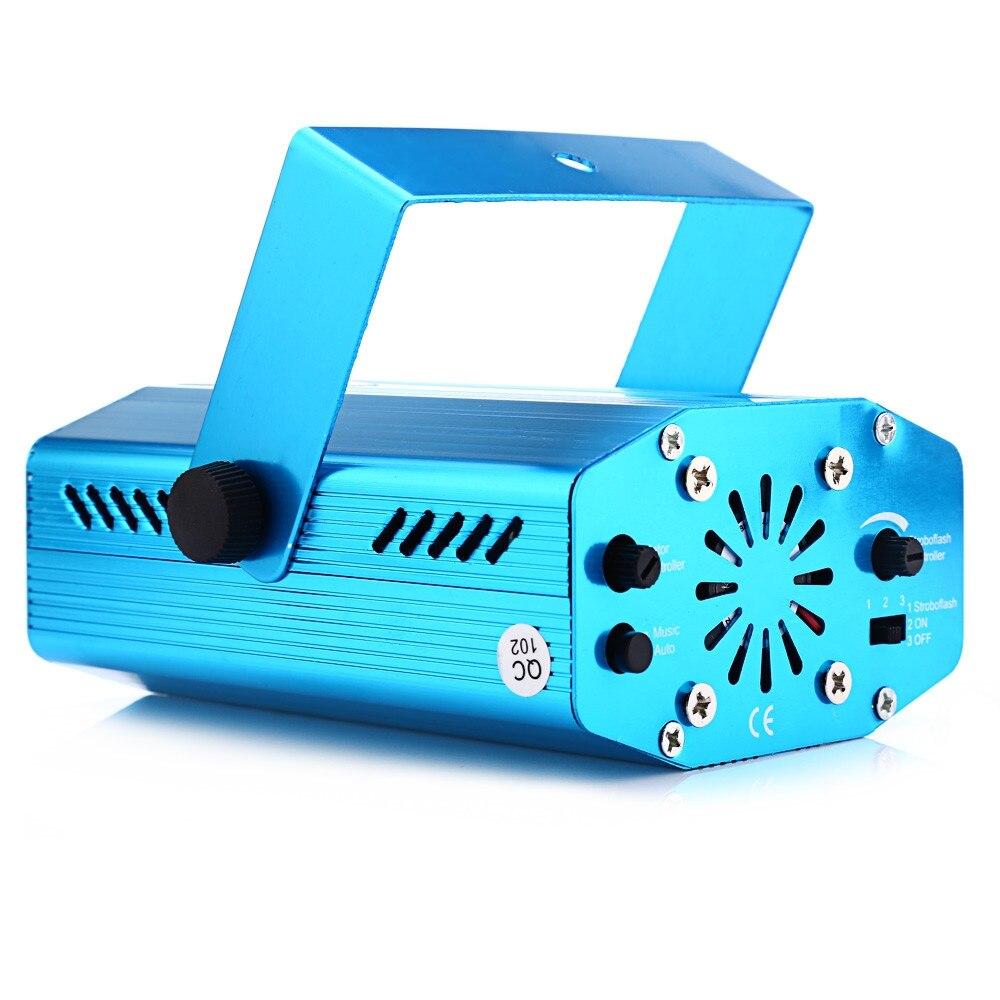 미니 LED 레이저 프로젝터 무대 조명 휴대용 레이저 램프 크리스마스 이동 머리 댄스 플로어 디스코 파티 KTV DJ 라이트 쇼