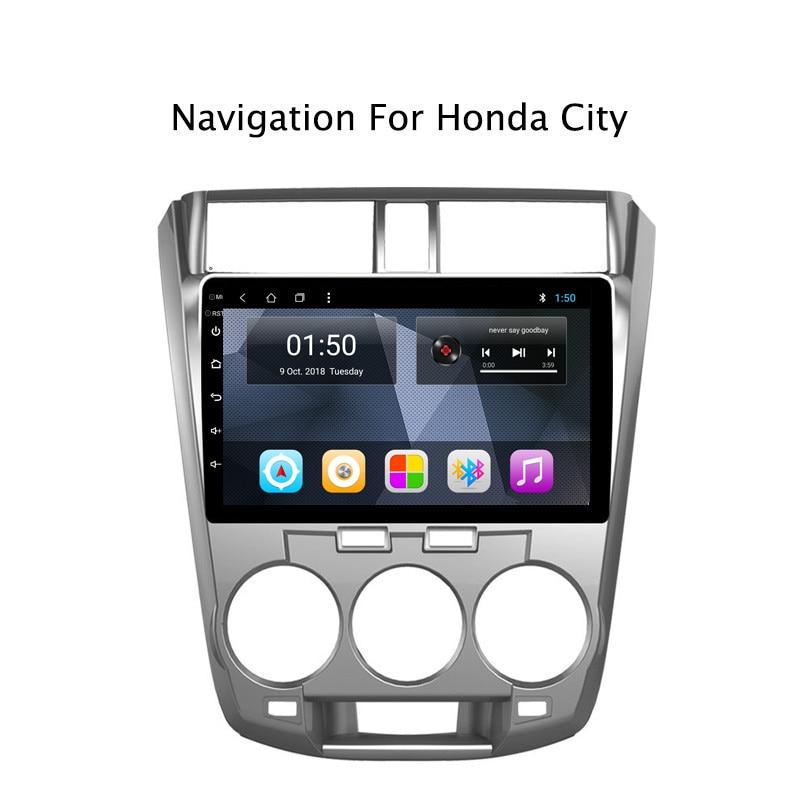 NAVITOPIA 10 1 дюймов 2G RAM 32G ROM Android 8 автомобильный DVD мультимедиа GPS навигация для Honda City