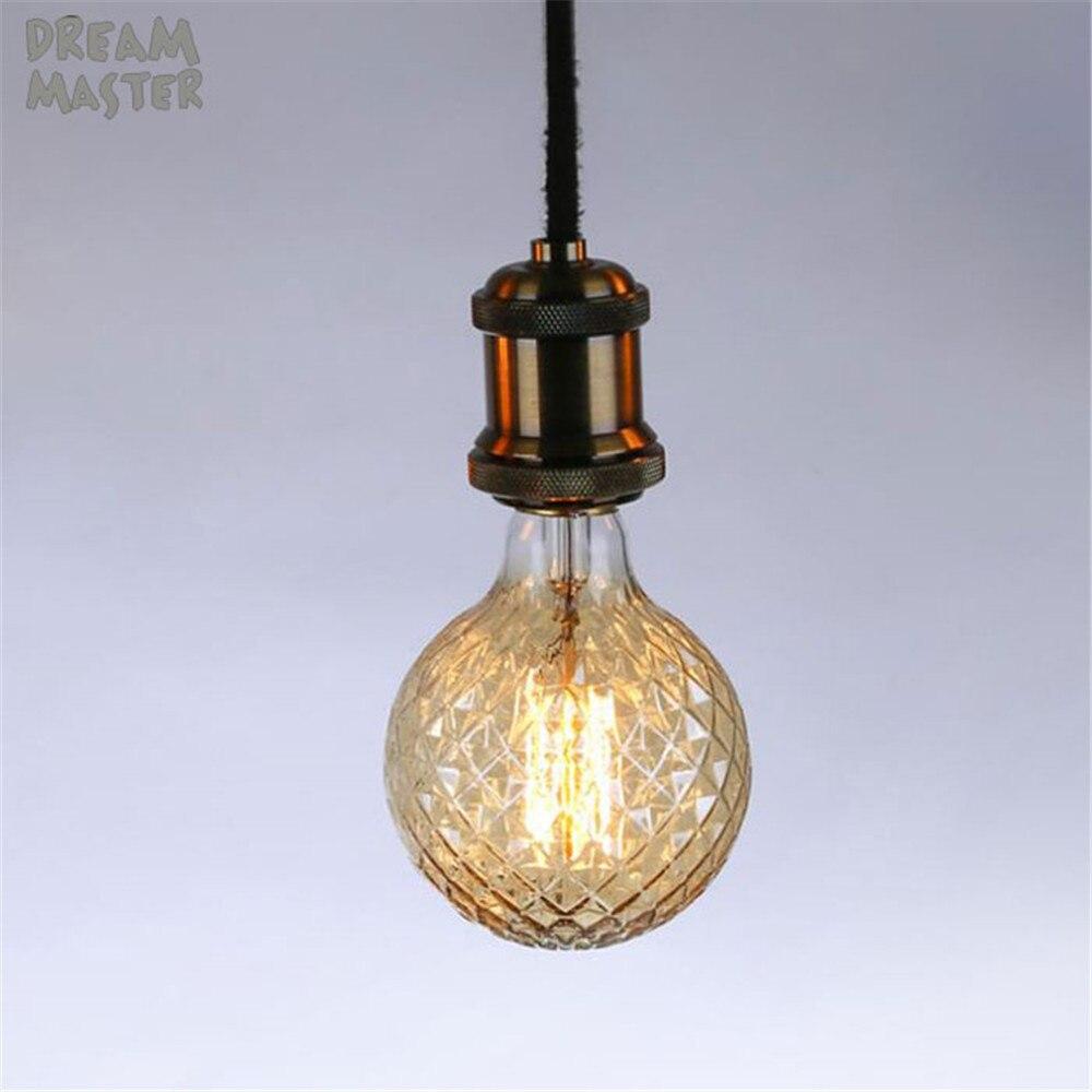 New pineapple G95 edison bulb industrial vintage decoration bulb 40W E27 incandescent retro lamp dimmable filament light
