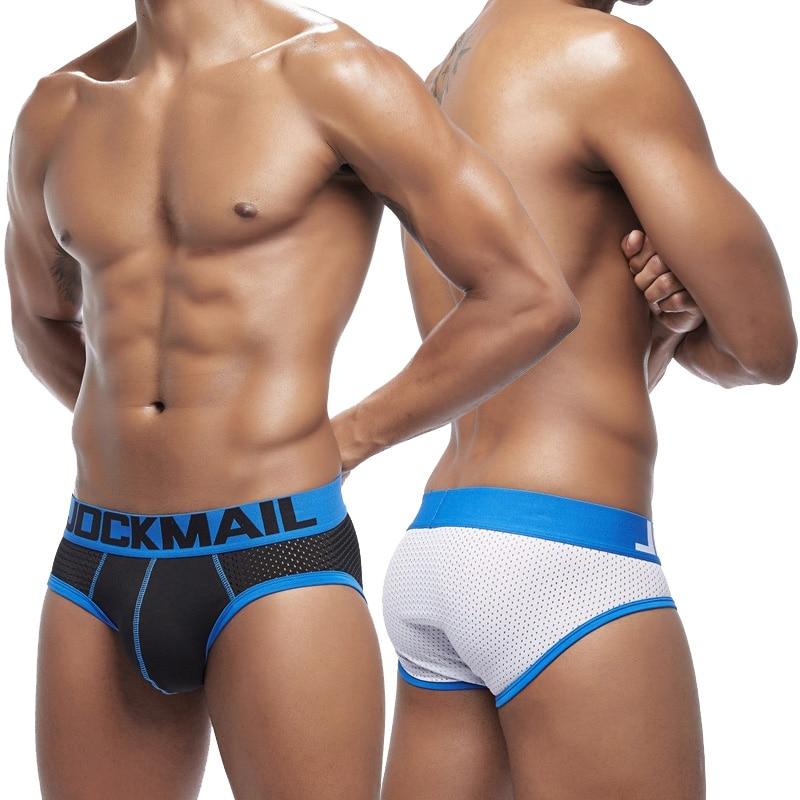 Men Underwear Sexy Briefs Mens Mesh Underpants Slips Push Up Cueca U Pouch Male Panties Breathable R