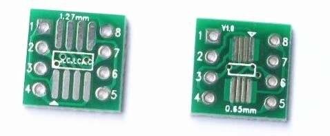 Бесплатная доставка 100 шт./лот SO8 MSOP8 SOIC8 TSSOP8 SOP8 адаптер с поворотом DIP8 IC адаптер пластина PCB PB-FREE без штыревого разъема