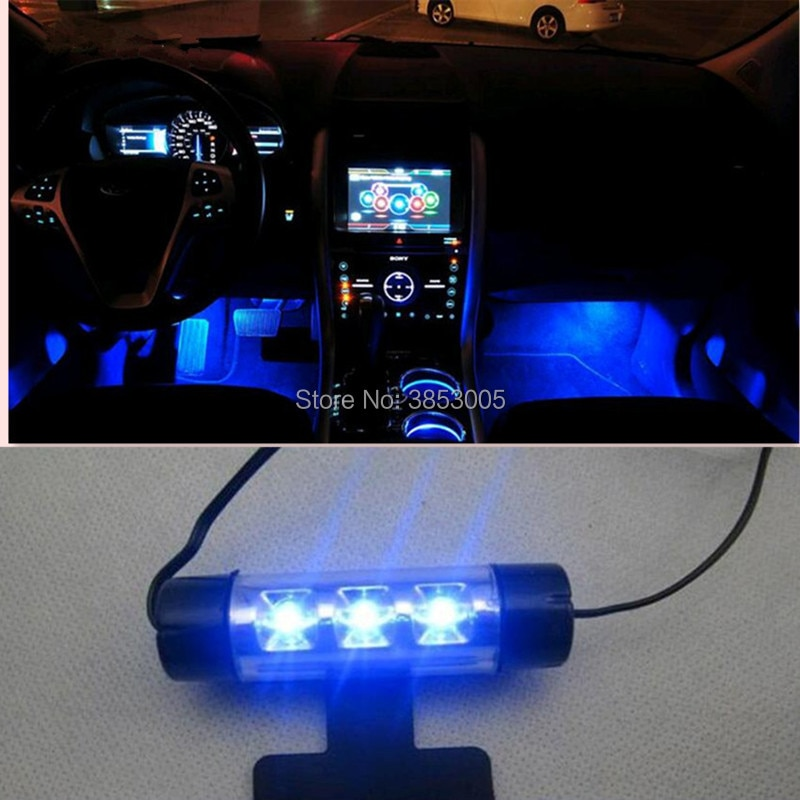 Tira de luces LED flexibles decorativas para coche, Kit de lámpara de Ambiente de luces antiniebla para kia sportage citroen xsara seat ibiza 6j peugeot 3008