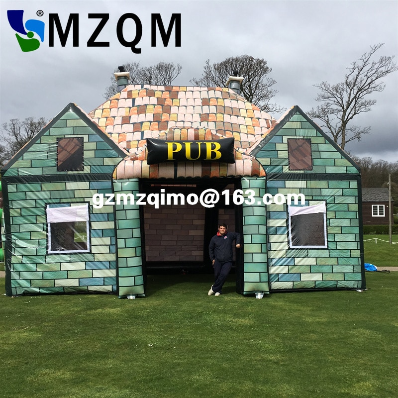Envío aéreo gratis a la puerta, 10*6*6mH casa inflable para fiesta al aire libre, Bar inflable, pub inflable gigante