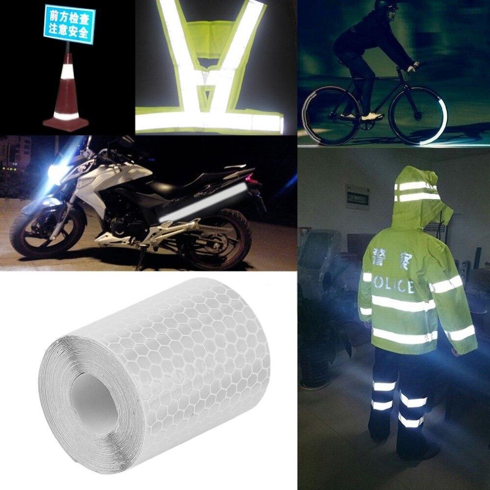 LESHP 3M * 5CM reflectante advertencia de seguridad cinta de visibilidad pegatina de la película pegatinas coche camión motocicleta ciclismo reflectante pegatina