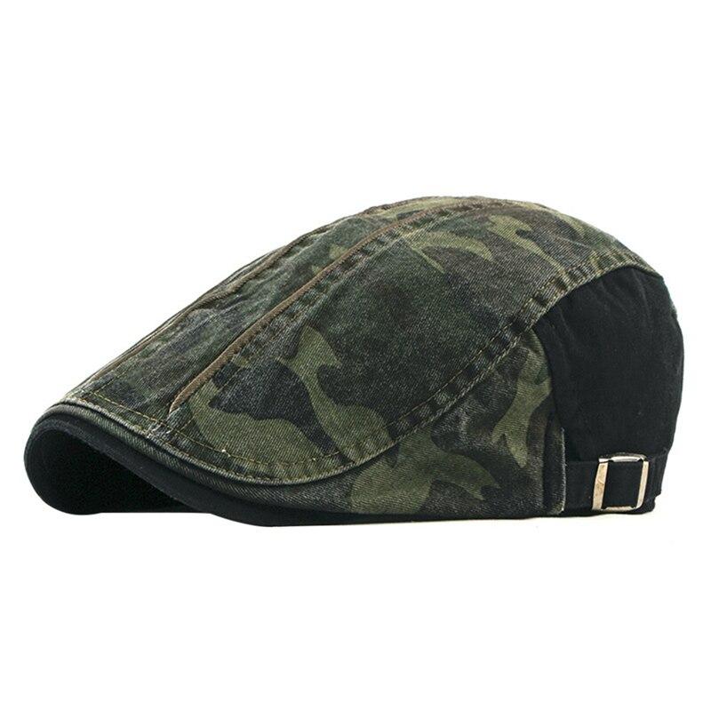 golf Beret Cap Men Washed Sweat Absorption Adjustable Sunshade Cotton Peaked Hat Outdoor sports Headwear