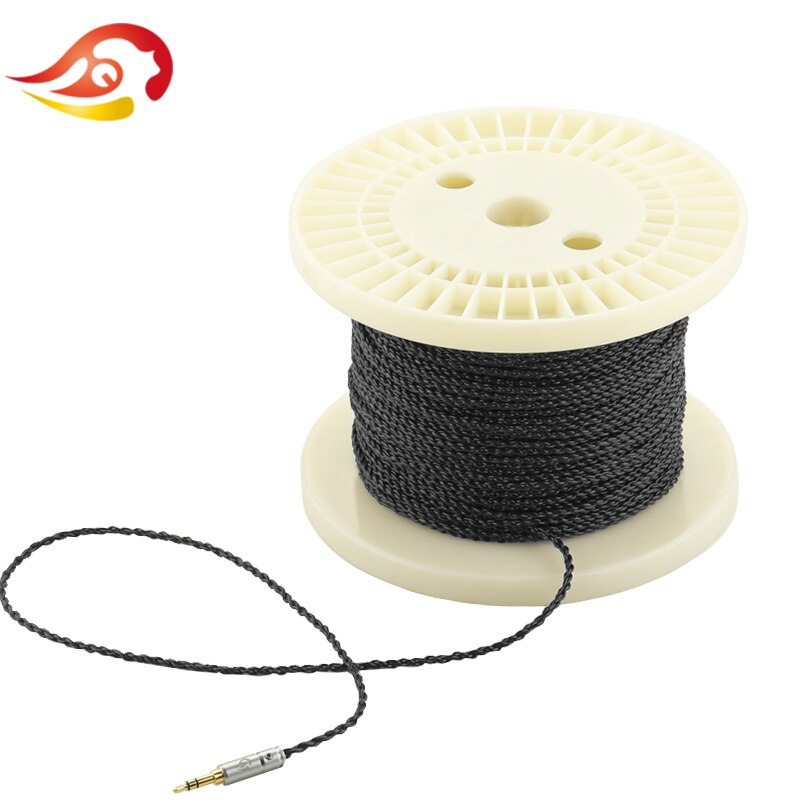 QYFANG 1.2m Flexible 4 Core Earphone Upgrade Cable 4 Drives Headphone Detachable Cord Soft Silver Foil Wire PVC Extension Line