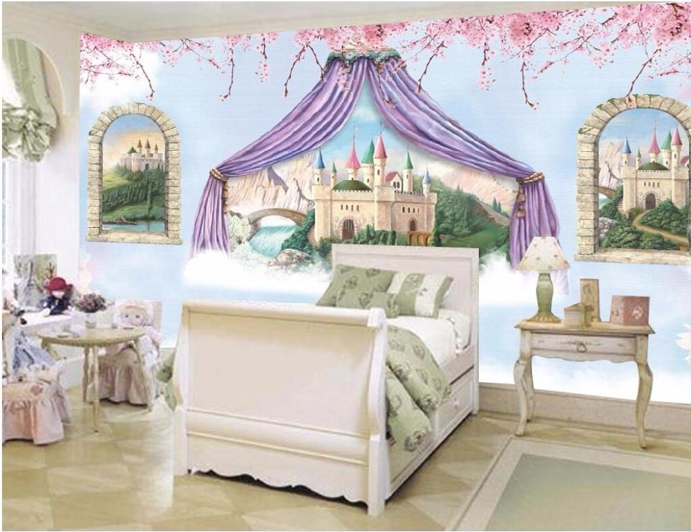 Custom photo mural 3d wallpaper Fantasy castles children room Setting wall decor painting 3d wall murals wallpaper for walls 3 d