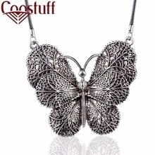 Belles Femmes Bijoux Colliers Vintage Papillon Pendentif Long collier femmes collares mujer foulard kolye bijoux femme