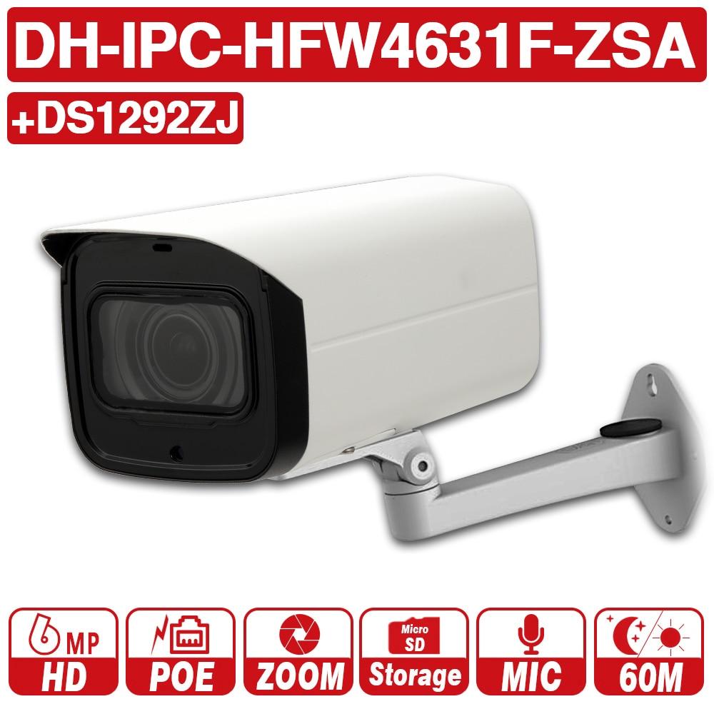 Dh IPC-HFW4631F-ZSA 6mp rede ip câmera 2.7-13.5mm vf lente bala 60m inteligente ir micro sd slot para cartão microfone embutido ip67 ik10