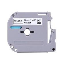 "Label Tape Compatibel Voor Brother M Serie Label Tape Cartridge M-K231 MK231 M231 12Mm X 8M 1/2 ""X 26.2ft"