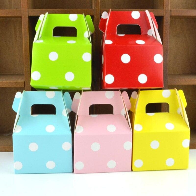 Boîtes à bonbons de mariage colorées 7x5x10cm   10 pièces, petites boîtes créatives faveur pour remise des diplômes, fête cadeau corne Carton sac à bonbons pour gâteau
