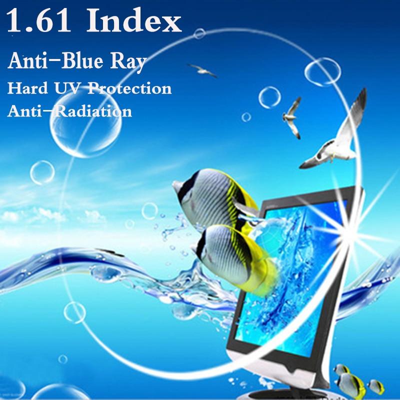 Ультратонкая асферическая линза для коррекции близорукости, УФ-защита, защита от синего излучения, RS081, 1,61