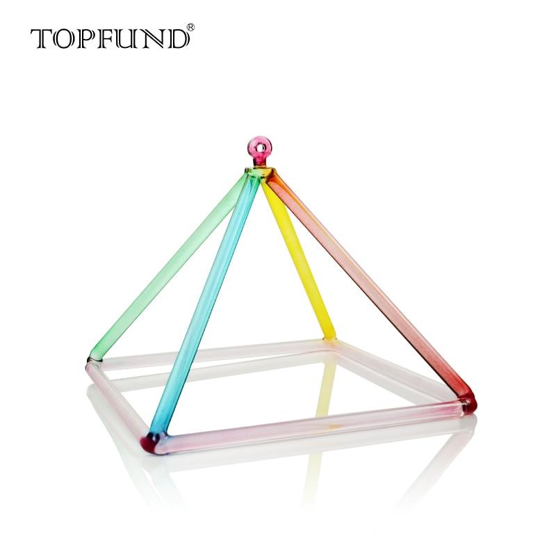 TOPFUND arcoíris Color cuarzo cristal pirámide musical 7 pulgadas cristal canto Bol mazo cuarzo gamuza Striker con funda
