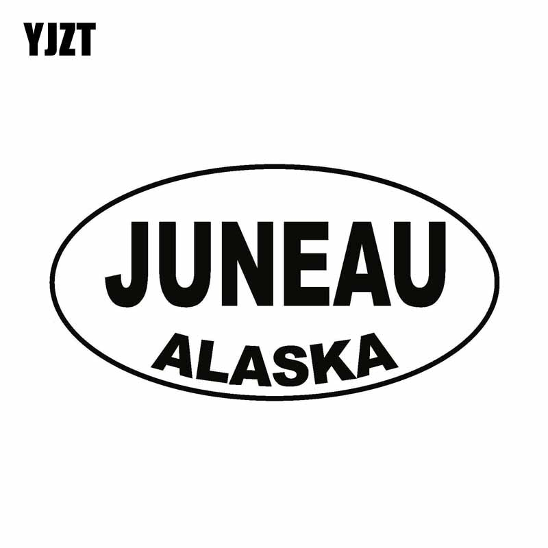 YJZT-pegatina de vinilo ovalada JUNEAU ALASKA para coche, 13CM x 6,9 CM,...