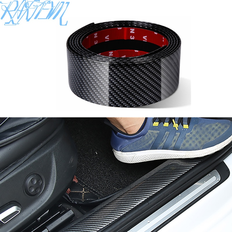 Pegatinas para coche, fibra de carbono de goma estiloso Protector de alféizar de puerta, productos para lada vesta Hyundai tucson solaris i30 creta