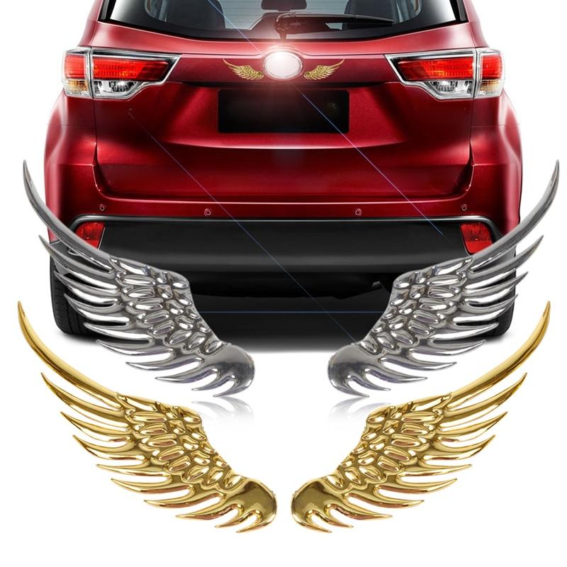 1 Pair Car sticker 3D wings Decoration Sticker For Chevrolet Cruze TRAX Aveo Lova Sail EPICA Captiva Malibu Volt Camaro Cobalt